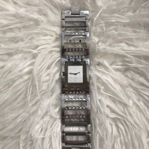 Swatch Silver Watch with rhinestones
